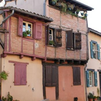 1362 Vieille maison et balcon pastellier