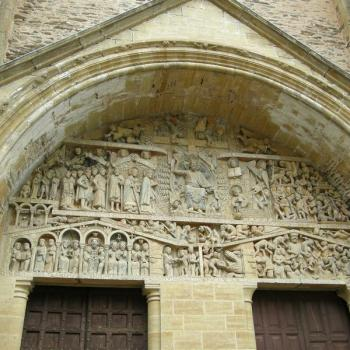Tympan de l'Abbatiale Saint-Foy